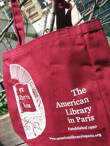 Francophilia July giveaway: American Library in Paris tote