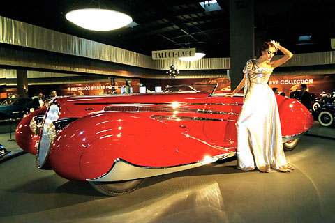 French Art Deco cars in California museum