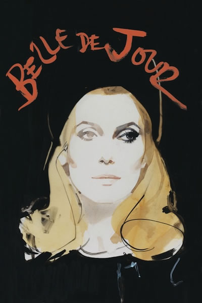 "Luscious Deneuve cover art for ""Belle de Jour"" DVD release"