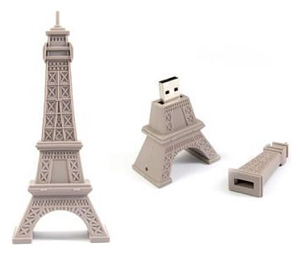 Francophile geek(ette)s: Eiffel Tower USB Drive!
