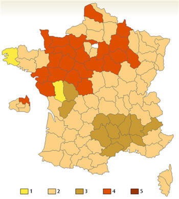 French kissing map