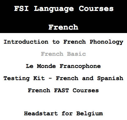 Foreign Service Institute language courses