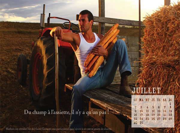 Hot young French farmers
