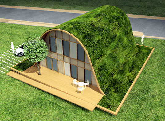French architect&#039;s groovy green house design