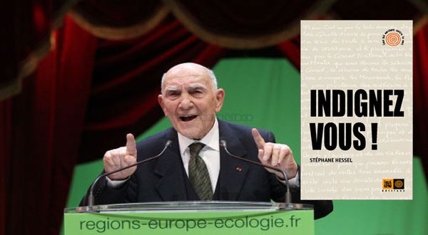 "French Resistance hero says ""Indignez-vous !"""