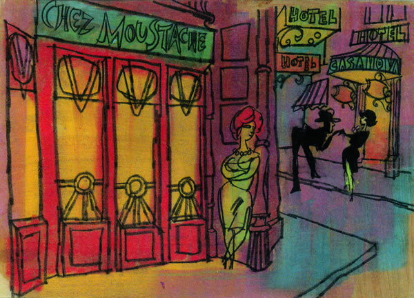 "Spectacular ""Irma La Douce"" storyboards"