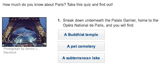 Take National Geographic's Paris Quiz