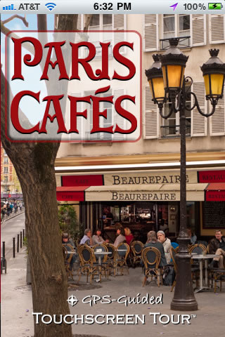 """Paris Cafes"" app for iOS"