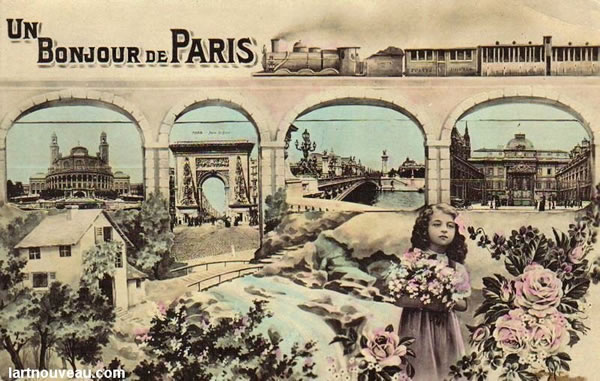 A treasure trove of vintage Paris postcards