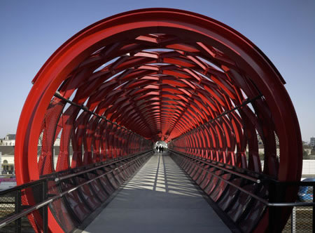 Cool pedestrian bridge in France