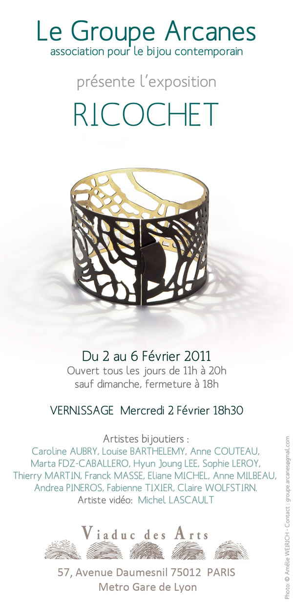 Join us for a contemporary jewelry exhibit in Paris