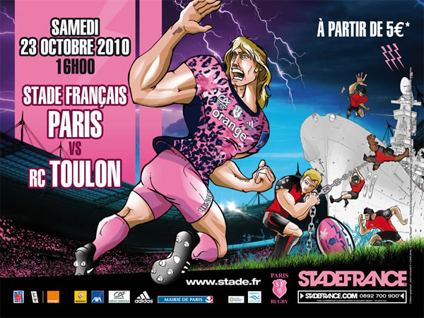 Le Stade français rugby team, or how to make pink really really butch