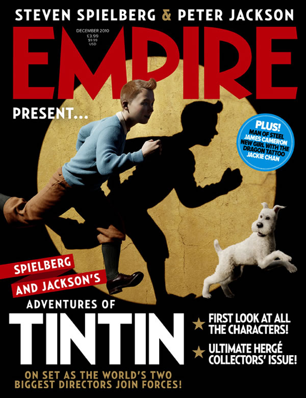 """Empire"" magazine gets first pictures of Tintin movie by Jackson/Spielberg"