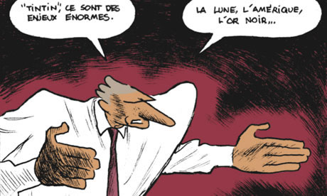 "De Villepin star character in ""Quai d'Orsay"" comic book"