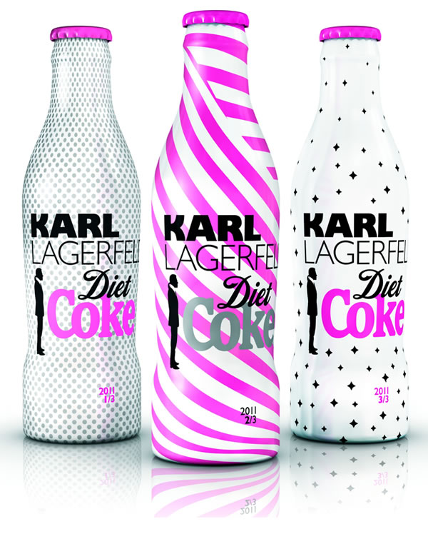 Karl Lagerfeld skins Diet Coke