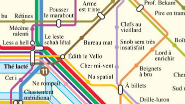 Paris métro in anagrams